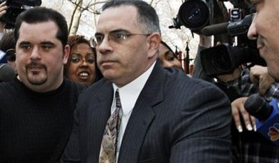 "**FILE** John ""Junior"" Gotti, the son of the late Gambino crime family leader ""Dapper Don"" John Gotti, exits Manhattan federal court on Sept. 27, 2006, after his third trial ended in a mistrial. (Associated Press)"