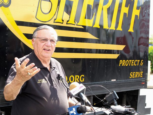 """""""I'm convinced that 'the fix is in' and that without a huge effort starting right now, Hillary Clinton will be the next president of the United States,"""" Maricopa County (Ariz.) Sheriff Joe Arpaio says in a fundraising message for Stop Hillary PAC. (Associated Press)"""