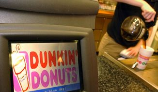 **FILE** A Dunkin' Donuts employee pours coffee for a customer in Cambridge, Mass., on Dec. 8, 2005. (Associated Press