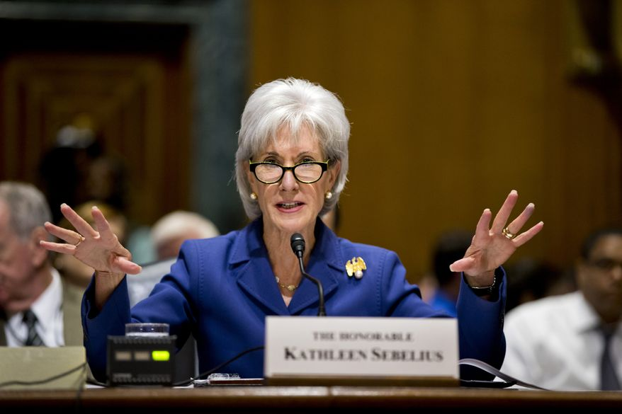 ** FILE ** In this Nov. 6, 2013, file photo, Health and Human Services Secretary Kathleen Sebelius testifies on Capitol Hill in Washington on the difficulties plaguing the implementation of the Affordable Care Act. (AP Photo/J. Scott Applewhite, File)