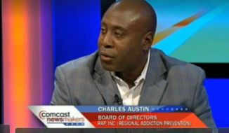 Charles Austin, Board Member of Regional Addiction Prevention (RAP). (Image: YouTube)
