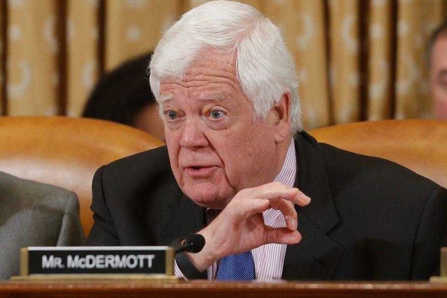 ** FILE ** Rep. Jim McDermott, Washington Democrat. (Associated Press)