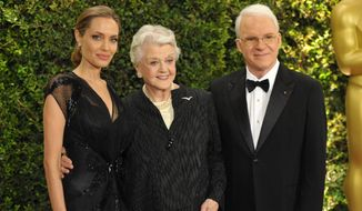 Angelina Jolie (left), Angela Lansbury and Steve Martin were honored by the Academy of Motion Picture Arts and Sciences on Saturday, Nov. 16, 2013, in Los Angeles. (John Shearer/Invision/AP)