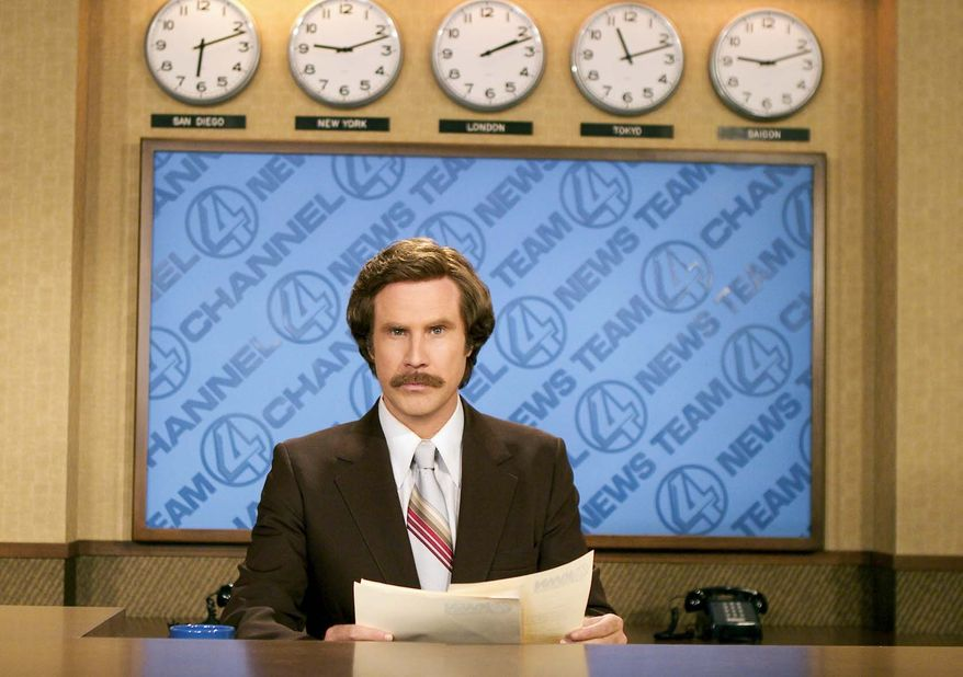 """Will Ferrell portrays news anchorman Ron Burgundy in the 2004 comedy film """"Anchorman: The Legend of Ron Burgundy."""" (AP Photo/Paramount Pictures, Frank Masi)"""