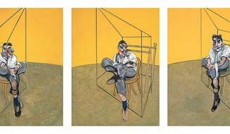 Three Studies of Lucien Freud (1969) by Francis Bacon