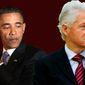 Barack Obama Bill Clinton illustration