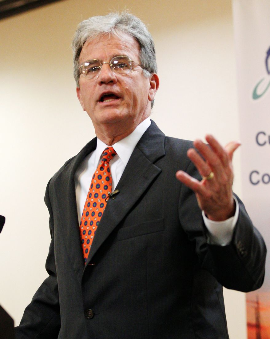 """""""It's a complete failure for me. It won't let you progress. It freezes up,"""" Sen. Tom Coburn, Oklahoma Republican, says of his attempts to sign up for Obamacare using the HealthCare.gov website. (associated press)"""