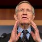 """Pressing the button: """"It's time to change the Senate before this institution becomes obsolete,"""" Senate Majority Leader Harry Reid said Thursday. (Associated Press)"""