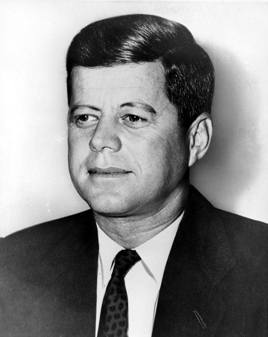This is an undated photograph of U.S. Sen. John F. Kennedy, D-Mass., at an unknown location.  (AP Photo)