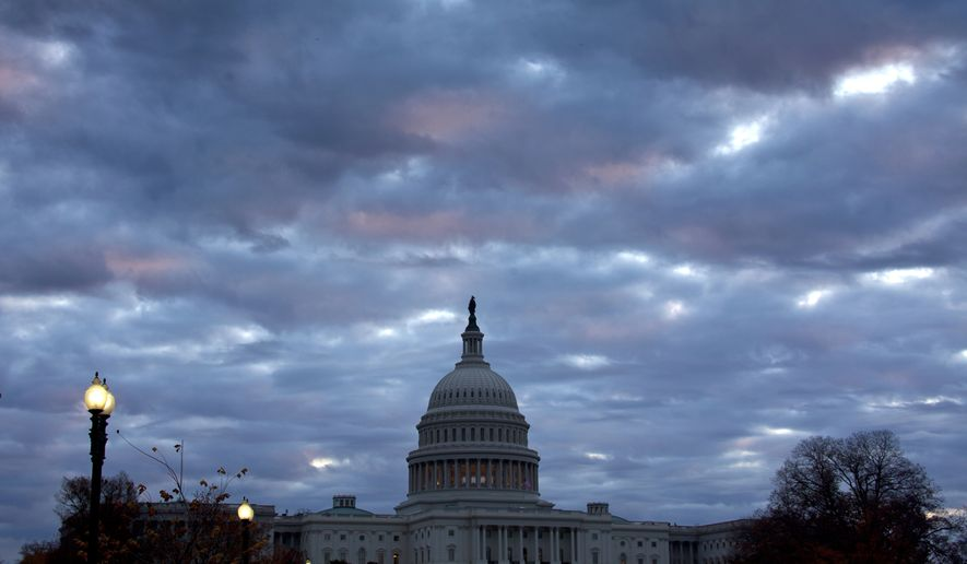 Storm clouds of partisan politics are brewing over the Senate, which President Trump is pressuring to eliminate filibuster rules. (Associated Press/File)