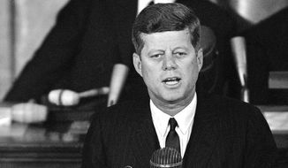 The CIA declassified a 19,000-page treasure trove of secret documents on Wednesday, an unprecedented mass release of daily intelligence briefs the agency once crafted for Presidents Kennedy and Johnson. (Associated Press)