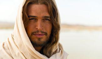 """Diogo Morgado, who plays Jesus in the film """"The Bible."""" (AP Photo/LightWorkers Media, Joe Alblas)"""