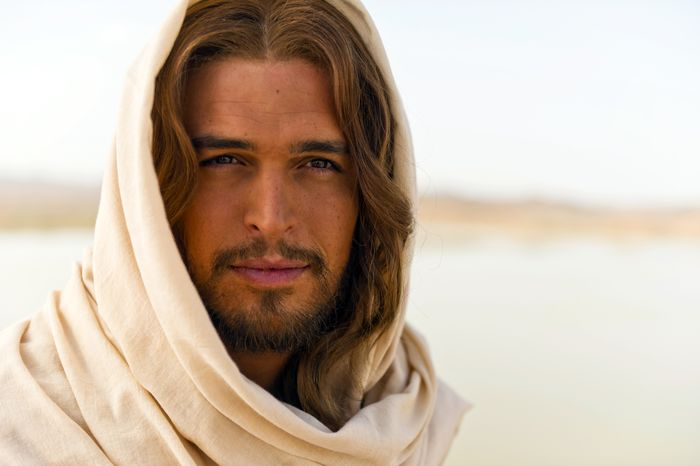 """** FILE ** This image released by LightWorkers Media shows Diogo Morgado who plays Jesus in the film """"The Bible."""" (AP Photo/LightWorkers Media, Joe Alblas)"""