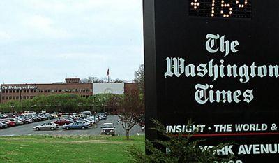 ** FILE ** The Washington Times' building on New York Avenue in Washington, D.C. (The Washington Times)