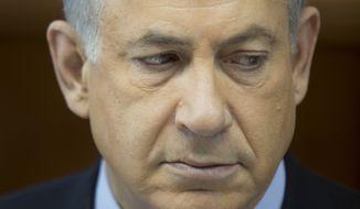 ** FILE ** Israeli Prime Minister Benjamin Netanyahu. (AP Photo/Abir Sultan, Pool)
