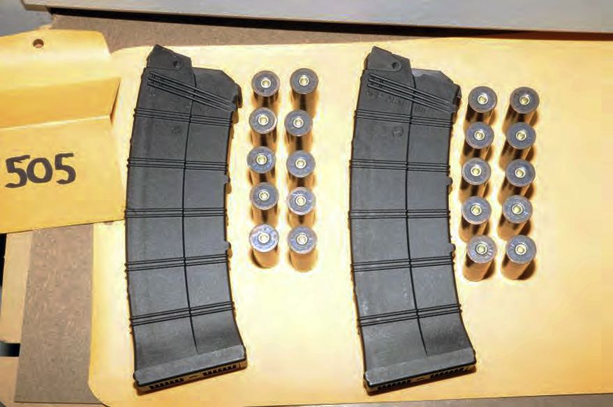 """This image contained in the """"Appendix to Report on the Shootings at Sandy Hook Elementary School and 36 Yogananda St., Newtown, Connecticut On December 14, 2012"""" and released Monday, Nov. 25, 2013, by the Danbury, Conn., State's Attorney shows ammunition found at Sandy Hook Elementary School in Newtown, Conn. Adam Lanza opened fire inside the school killing 20 first-graders and six educators before killing himself as police arrived. (AP Photo/Office of the Connecticut State's Attorney Judicial District of Danbury)"""