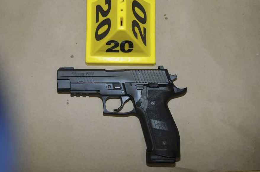 """This image contained in the """"Appendix to Report on the Shootings at Sandy Hook Elementary School and 36 Yogananda St., Newtown, Connecticut On December 14, 2012"""" and released Monday, Nov. 25, 2013, by the Danbury, Conn., State's Attorney shows a weapon at Sandy Hook Elementary School in Newtown, Conn. Adam Lanza opened fire inside the school killing 20 first-graders and six educators before killing himself as police arrived. (AP Photo/Office of the Connecticut State's Attorney Judicial District of Danbury)"""