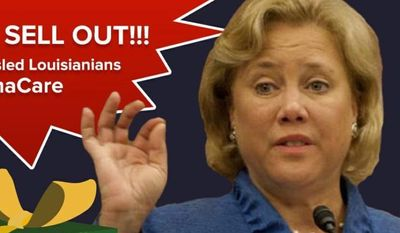 The National Republican Senatorial Committee is showering Black Friday shoppers with fliers showcasing Democrats up for re-election who endorsed Obamacare, such as Sen. Mary Landrieu of Louisiana. (National Republican Senatorial Committee)