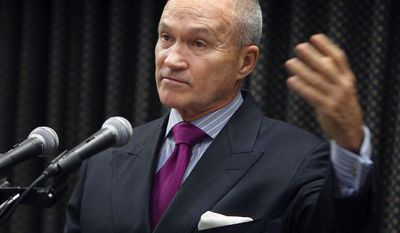 New York City Police Commissioner Ray Kelly says the idea for fitting fake pill bottles with GPS devices was prompted by high-profile crimes associated with the thriving black market for oxycodone and other prescription drugs. (Associated Press)