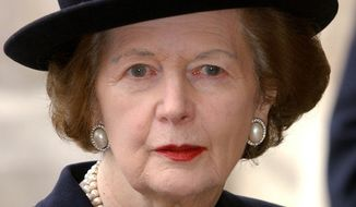 Former British Prime Minister Margaret Thatcher (AP Photo)
