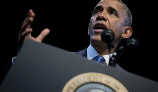 President Obama speaks about the economy and growing economic inequality on Wednesday, Dec. 4, 2013, at the Town Hall Education Arts Recreation Campus in Washington. (AP Photo/Evan Vucci)