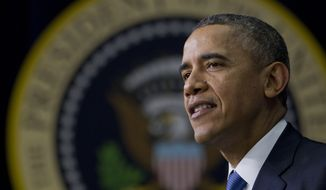 President Barack Obama speaks about the new health care law during a White House Youth Summit, Wednesday, Dec. 4, 2013, in the South Court Auditorium in the Eisenhower Executive Office Building on the White House complex in Washington. (AP Photo/Carolyn Kaster)