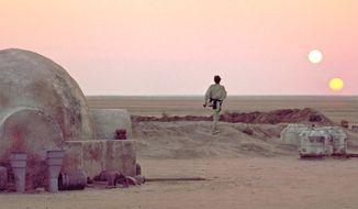 Star Wars planet Tatooine.