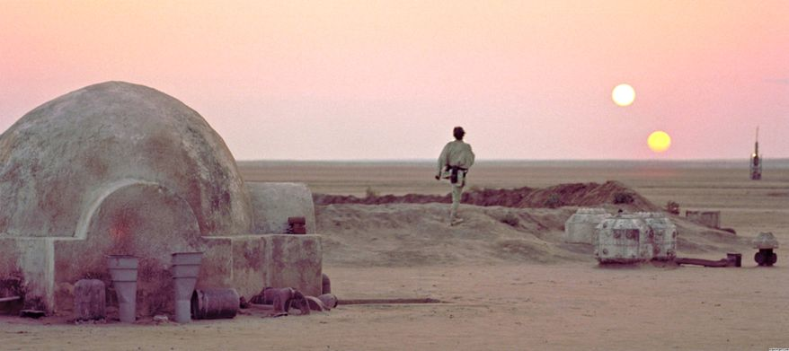 Star Wars planet Tatooine.
