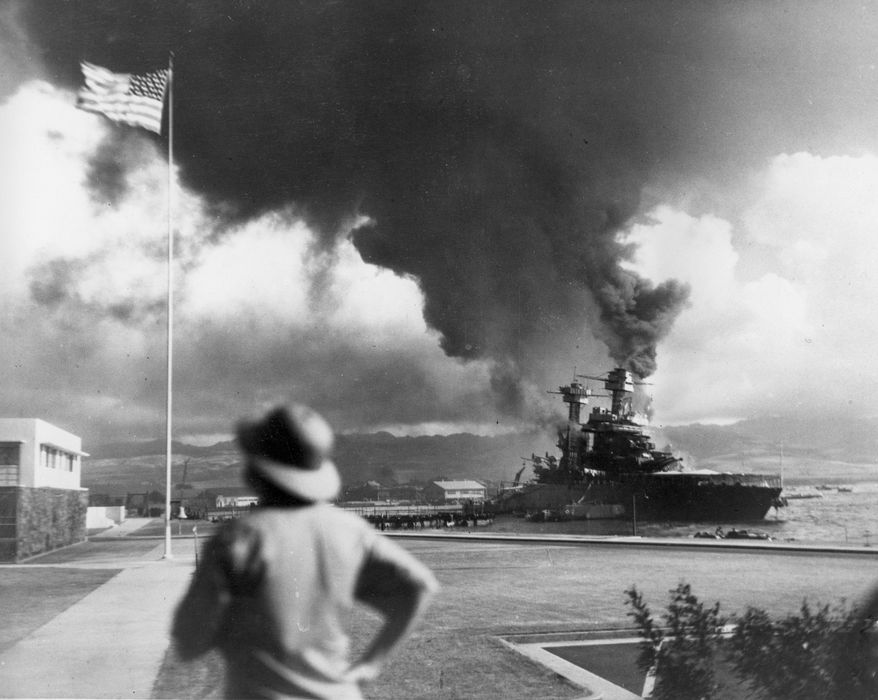 ** FILE ** American ships burn during the Japanese attack on Pearl Harbor, Hawaii, in this Dec. 7, 1941 file photo.  (AP Photo, File)