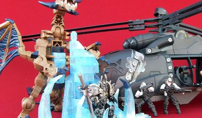 Gift ideas for the builders include Mega Bloks' World of Warcraft: Arthas and Sindragosa and Meccano's Gears of War: King Raven (Joseph Szadkowski/The Washington Times)