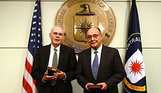 John Downey (left) and Richard Fecteau recently received the CIA's highest honor, the Distinguished Intelligence Cross. They were imprisoned by the Chinese for 20 years. (CIA)