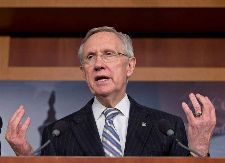 """DRAMA: Moves by Senate Majority Leader Harry Reid (left) and his staff to expedite visas ensnared President Obama's nominee to be the No. 2 Homeland Security official, Alejandro """"Ali"""" Mayorkas (right), whose appointment is to be reviewed by the Senate on Wednesday."""