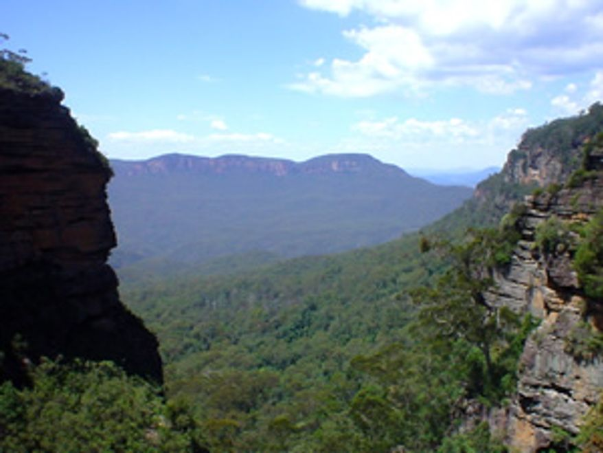 ** FILE ** The Blue Mountains National Park in the Australian state of New South Wales (Wikimedia Commons)