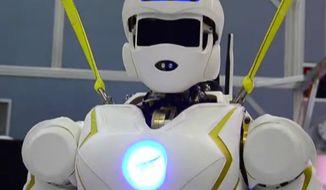 "Valkyrie is NASA's ""superhero robot."" (YouTube)"