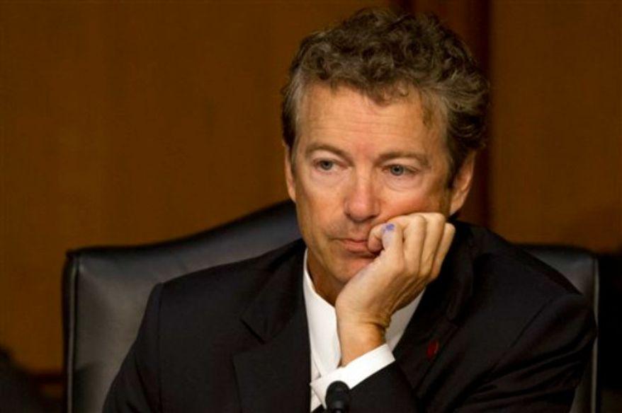 **FILE** Sen. Rand Paul, Kentucky Republican (Associated Press)