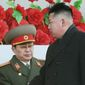Family: North Korean leader Kim Jong-un was once close to his uncle Jang Song-thaek, but now has had him executed. (Associated Press)