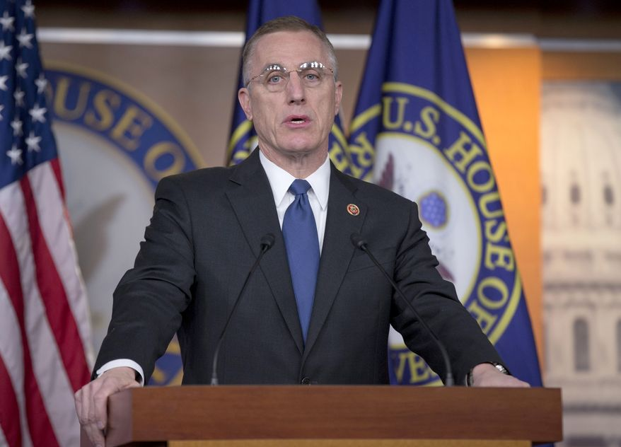 Rep. Tim Murphy, R-Pa. speaks during a news conference on Capitol Hill in Washington, Thursday, Dec. 12, 2013, to discuss the introduction of a legislative package of major mental health reforms.  (AP Photo/Pablo Martinez Monsivais)