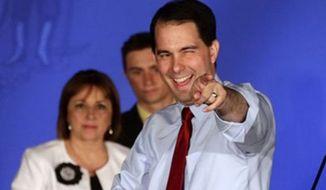 ** FILE ** Wisconsin Gov. Scott Walker. (Associated Press)