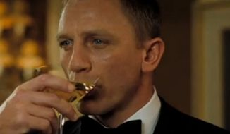 Actor Daniel Craig as James Bond.