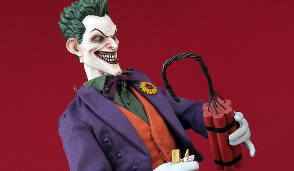 Sideshow Collectibles' sixth scale Joker has a dynamite personality. (Photo by Joseph Szadkowski/The Washington Times)