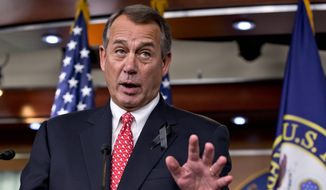 House Speaker John A. Boehner, Ohio Republican, last week led the charge to undo some of the sequester cuts, replacing them with more spending now, offset by promised fees and cuts in the future. Mr. Boehner is one of a number of members of Congress who have changed their stance on the automatic cuts since the 2011 debt deal that set the sequesters in place. (Associated Press)