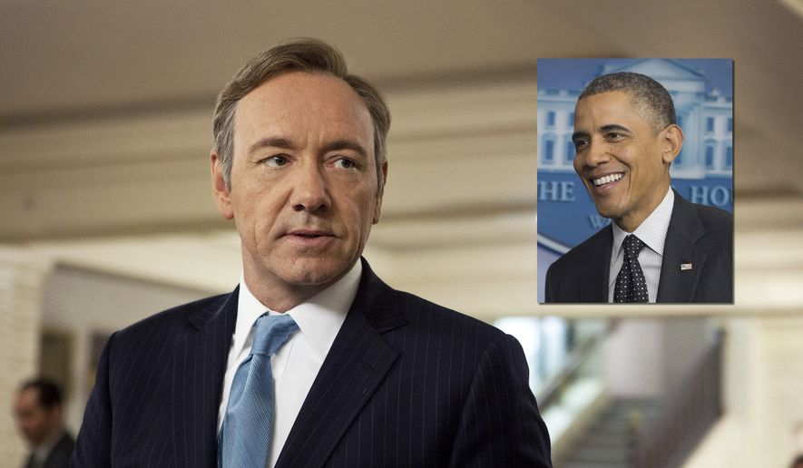 "ILLUSTRATION This image released by Netflix shows Kevin Spacey as U.S. Congressman Frank Underwood in a scene from the Netflix original series, ""House of Cards."" Spacey was nominated for an Emmy Award for best actor in a drama series on, Thursday July 18, 2013. (AP Photo/Netflix, Melinda Sue Gordon) ** FILE **"