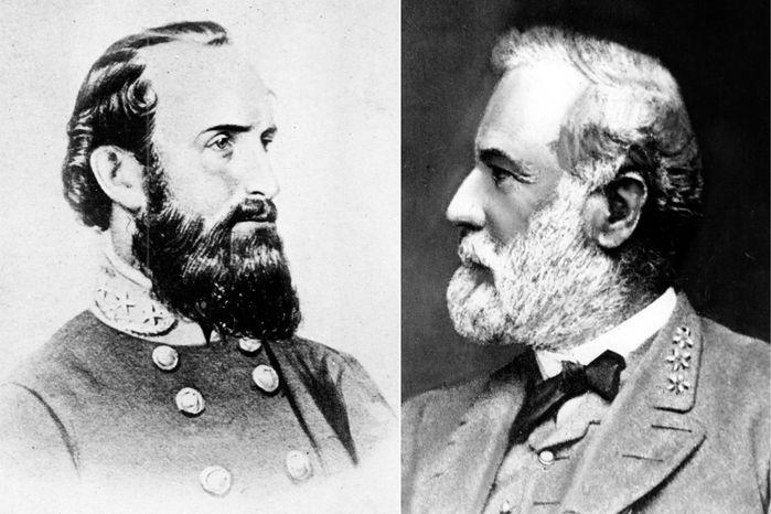 ILLUSTRATION  Confederate Gen. Thomas Jonathan 'Stonewall' Jackson (L) and Confederate Gen. Robert E. Lee