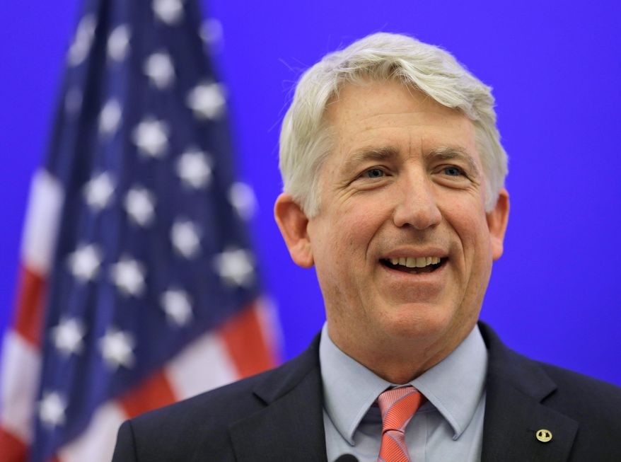 """""""This was an extraordinarily close election,"""" Virginia Attorney General-elect Mark R. Herring (above) said as his Republican rival, Mark D. Obenshain (below), seen with his wife, Suzanne, conceded the race to the Democrat in Richmond on Wednesday. Mr. Obenshain had called for a statewide recount in November after an initial count found a 165-vote margin. (associated press photographs)"""