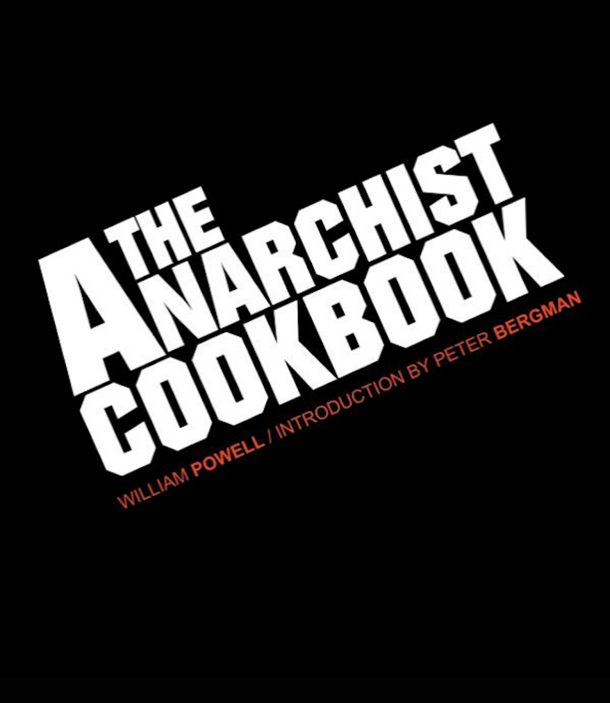 """The Anarchist Cookbook"" by William Powell. (Image: Amazon)"