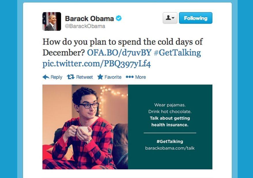 Screen grab of @BarackObama.