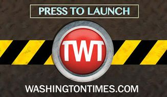 Press to launch button for the new Washingtontimes.com