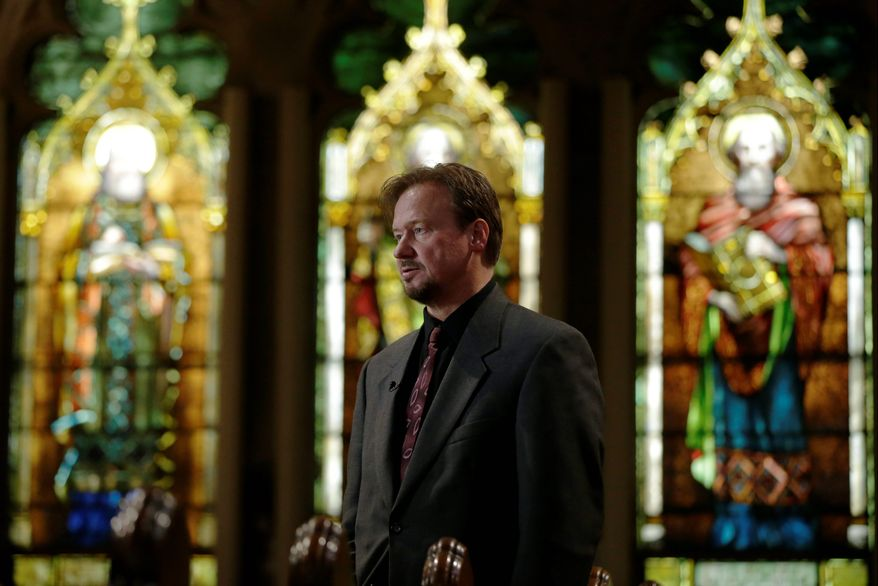 """""""My roots, my heart, are in the Methodist church. I think this is a fight that will be rewarded. Change is coming sooner rather than later,"""" former United Methodist pastor Frank Schaefer, who was defrocked for officiating his gay son's wedding, said at Foundry United Methodist Church in the District on Sunday. (associated press)"""