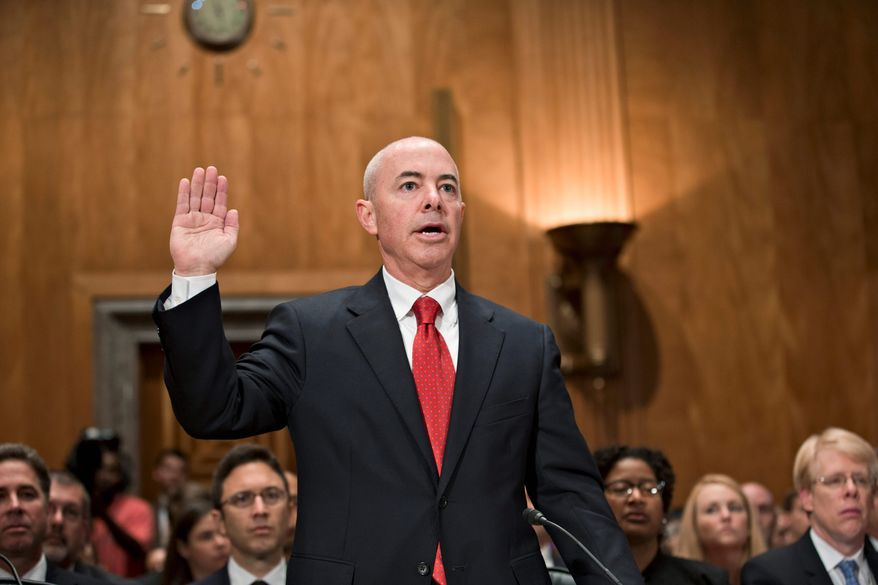 Alejandro Mayorkas was confirmed as deputy secretary of the Homeland Security Department on a simple majority, party-line vote despite being under an active inspector general's investigation. (Associated Press)