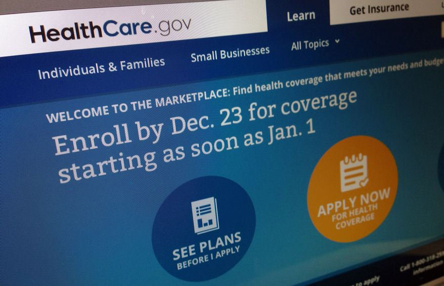 This Dec. 20, 2013, image shows part of the HealthCare.gov website in Washington, that notes to enroll by Dec. 23 for coverage starting as soon as Jan. 1, 2014. Policies will soon take effect in new health insurance markets that have been trying to enroll customers. (AP Photo/Jon Elswick)